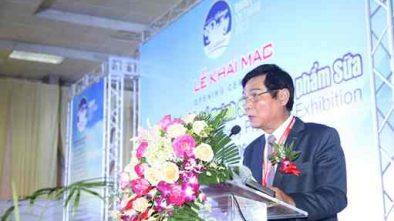 Ông Trần Quang Trung, Chủ tịch Hiệp hội sữa Việt Nam phát biểu tại lễ khai mạc